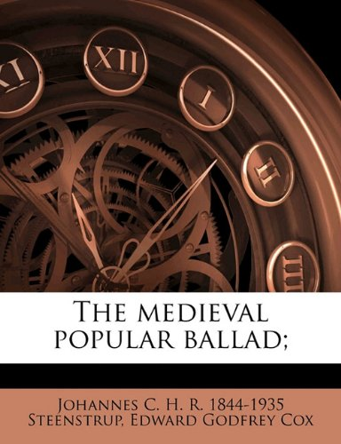 Download The medieval popular ballad; pdf epub