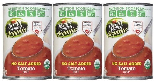Health Valley Organic Tomato Soup, No Salt, 15 oz, 3 pk by Health Valley