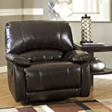 Ashley Furniture Signature Design - Capote Swivel Glider Recliner - Manual Reclining Chair - Chocolate Brown