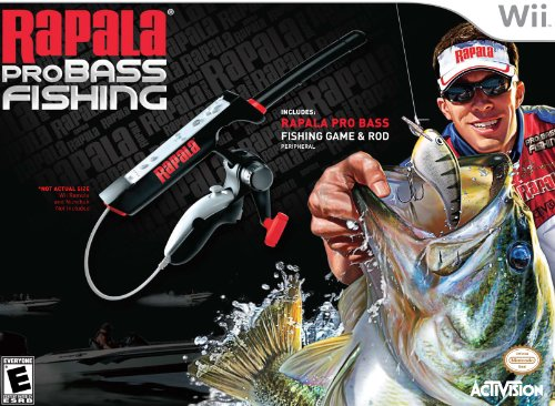 Rapala Pro Bass Fishing with Rod Peripheral - Nintendo Wii by Activision