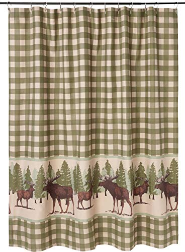 Greenland Home Moose Creek Shower Curtain, 72x72-inch, Multi