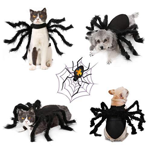 Idepet Pet Dog Halloween Spider Costume 8
