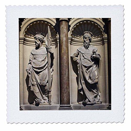 3dRose Danita Delimont - Statues - France, Marne, Reims, Basilique St-Remi statues - EU09 WBI2372 - Walter Bibikow - 10x10 inch quilt square (qs_81738_1)