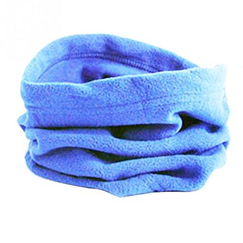 térmica azul y máscara cálida Bufanda unisex para mujer bufanda hombre azul cuello polar y forro de claro marino Horrenz con invierno qFZHq8