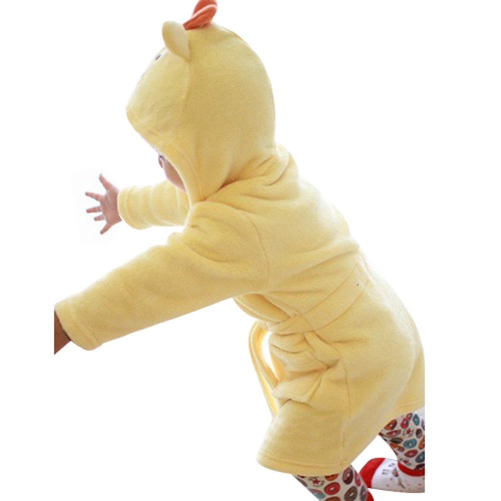 Little Girls Fleece Bathrobe Unisex Kids Robe Pajamas Sleepwear CZ-TZ-1641
