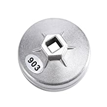 74mm 14 Flute Aluminum Oil Filter Wrench Socket Remover Tool 903 Silver Color for BMW Audi Benz