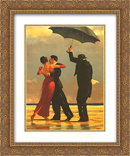 - The Singing Butler 2X Matted 16x20 Gold Ornate Framed Art Print by Jack Vettriano