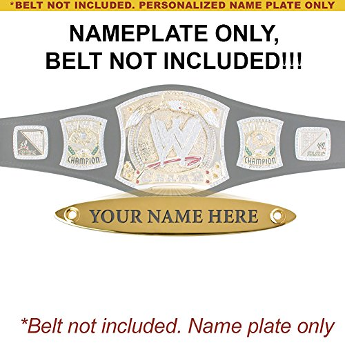 Personalized Nameplate for Adult WWE Spinning Championship Replica Belt by WWE
