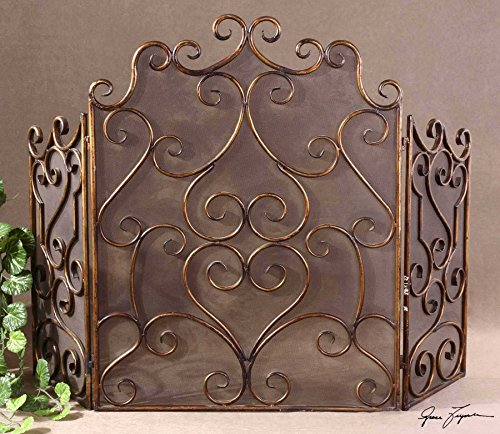 Vhomes Lights Metal Fireplace Screen The Kora Collection Fireplace Accessories