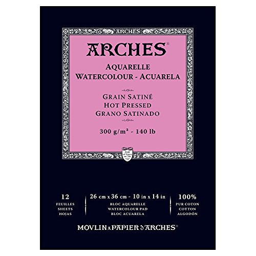 Arches Watercolor Pad Hot Press 10X14