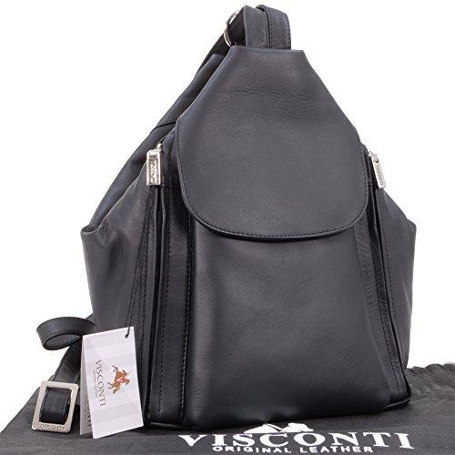 Pack Handbag A Black Visconti Leather 18357 Back DANII CqvxvEp5n