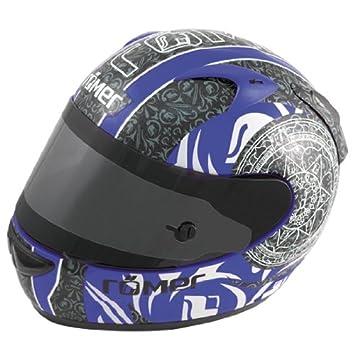 Römer Mandala Casco Integral de Motocicleta, Negro/Azul, XL
