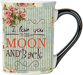 I Love You To The Moon And Back Mug, Vintage Coffee Cup, Ceramic Vintage Mug, Vintage Gifts By Tumbleweed