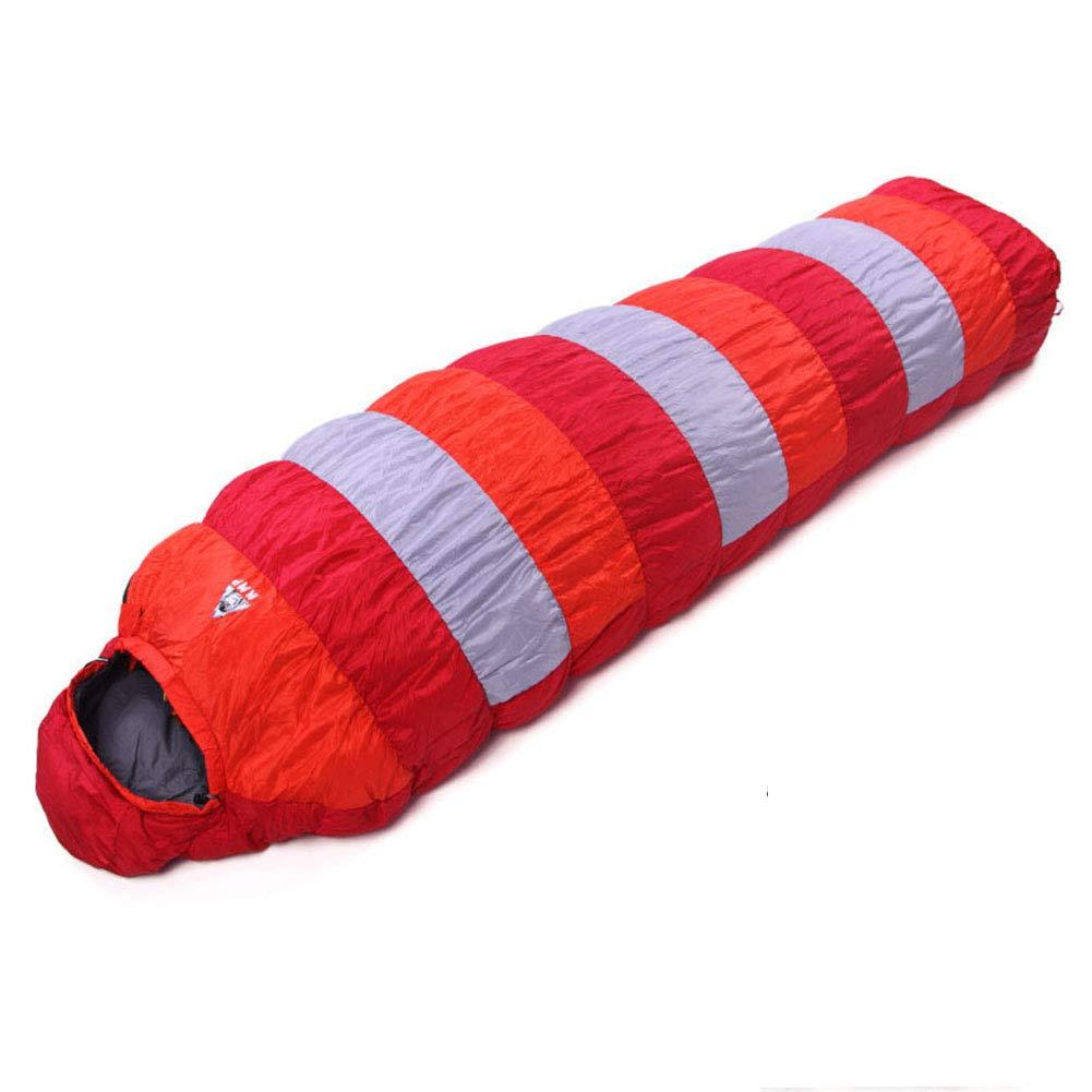 寝袋、ミイラ軽量睡眠袋快適な通気性の睡眠袋は、冬の暖かいキャンプのための素晴らしい、旅行、ハイキング大人の屋外ギア,Blue,400g B07N2JBQL2 Red 600g 600g|Red