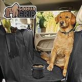 Gorilla Grip - Funda protectora para asiento de coche para perro, resistente al agua, antideslizante, resistente, con tazón para perros, duradero, ajuste universal para coches, camiones, SUV, agarre inferior, Negro, Hammock