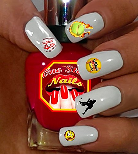 Amazon.com: Softball Mom For You: Set of 80 Clear waterslide nail decals  with Softball Mom Art and Logos.SBM-002-80 by One Stop Nails: Beauty - Amazon.com: Softball Mom For You: Set Of 80 Clear Waterslide Nail