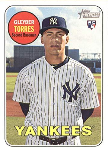 (2018 Topps Heritage Baseball #603 Gleyber Torres RC New York Yankees Rookie Card)