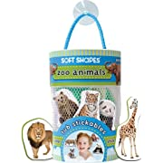 Innovative Kids Soft Shapes Photography Tub Stickables Zoo Animals Playset
