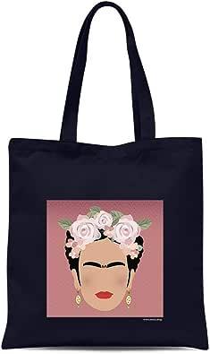 all sas - Bolsa shopper frida Kahlo 100% tela de algodón estampado ...