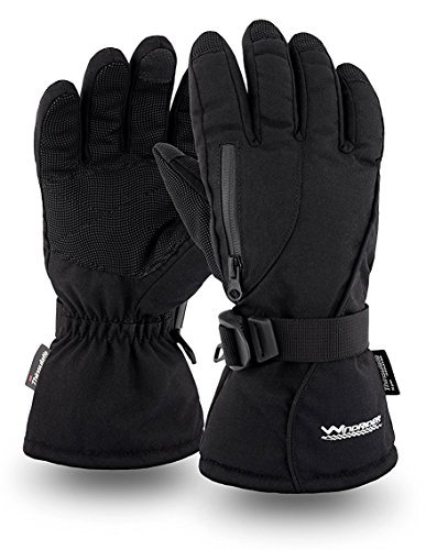 Rugged Waterproof Winter Gloves   Touchscreen Compatible   Cordura Shell, Thinsulate Insulation   Ice Fishing, Skiing, Sledding, Snowboard   for Women or Men (XXL)