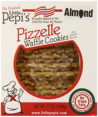 Little Pepi's Pizzelles, Almond, 7 Ounce