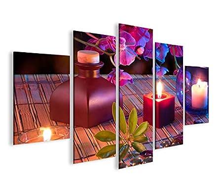 Bild Bilder Auf Leinwand Yoga Joga Feng Shui Kerzen Steine Relax Mf