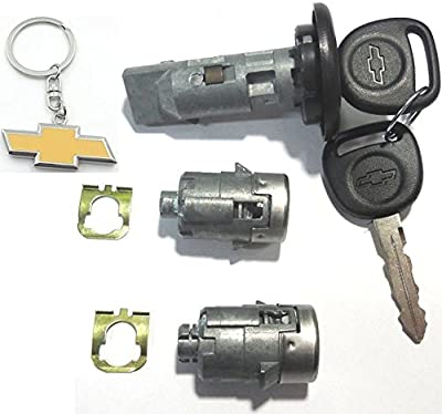 7012945 + 598007 CHEVY/GM Ignition/Door Lock Set (coded with logo keys) Strattec Lock Part ...