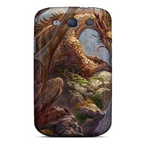 Protective Tpu Case With Fashion Design For Galaxy S3 (brown Dragon)