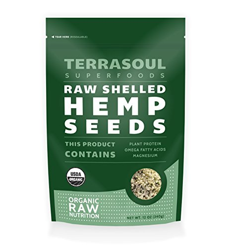 Terrasoul Superfoods Raw Hulled Hemp Seeds (Organic), 12 Ounce