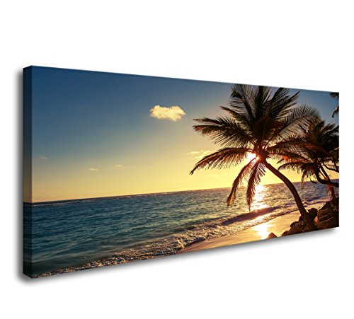 Cao Gen Decor Art-S01250 5 panels Wall Art Beach coconut tree Canvas print Stretched and Framed Canvas Paintings Ready to Hang for Home Decorations Wall Decor by Cao Gen Decor Art