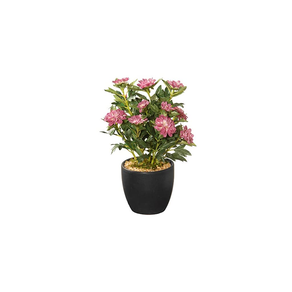 CC Christmas Decor 11″ Potted Zinnia Artificial Flowers