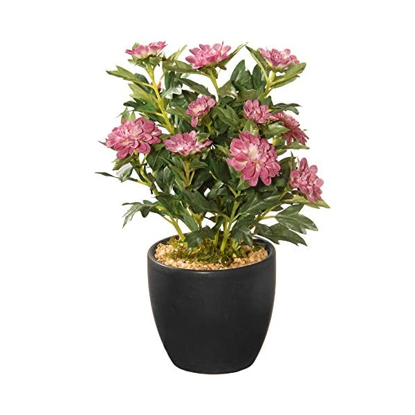 CC Christmas Decor 11″ Potted Zinnia Artificial Flowers