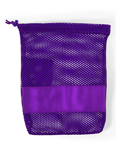 Ballet Shoe Bag - Mesh Pointe Shoe Bag,PSPSKY,Sky Blue,One-Size