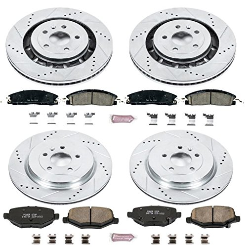 - Power Stop K6375 Front and Rear Z23 Evolution Brake Kit with Drilled/Slotted Rotors and Ceramic Brake Pads