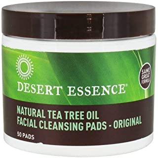 product image for Desert Essence Facial Cleansing Pads, Natural Tea Tree Oil 50 ea