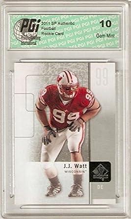 Amazon.com  J.J. Watt 2011 SP Authentic Upper Deck  57 Rookie Card ... 4f0ab0f81