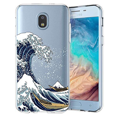 - Unov Case Compatible with Galaxy J7 2018 Clear with Design Slim Protective Soft TPU Bumper Embossed Pattern Cover for Galaxy J7 Crown J7 Refine J7 Star J7 V J7V 2nd Gen J7 Aero J737V Great Wave