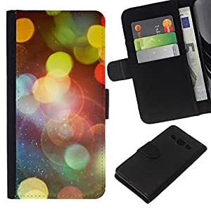 NEECELL GIFT forCITY // Billetera de cuero Caso Cubierta de protección Carcasa / Leather Wallet Case for Samsung Galaxy A3 // Bokeh Luces