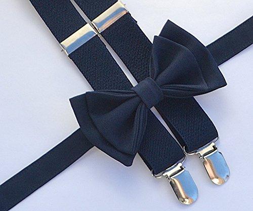 Light Grey Suspenders Bow Tie Set for Baby Toddler Boy Teen Men