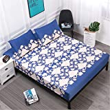 Mattress Cover Waterproof Bed Mattress Protector Pad Fitted Sheet Style Separated Water Bed Linens with Elastic