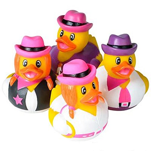 Inflatable Costume Rubber Duck (Cowgirl Rubber Duckies, Assorted Colors. 24)