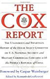 Cox Report, Regnery Publishing Staff and Chris Cox, 0895262622