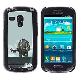 Paccase / SLIM PC / Aliminium Casa Carcasa Funda Case Cover - Funny Abstract Space Coffee - Samsung Galaxy S3 MINI NOT REGULAR! I8190 I8190N