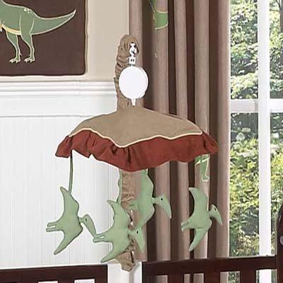Sweet Jojo Designs Dinosaur Musical Baby Crib Mobile