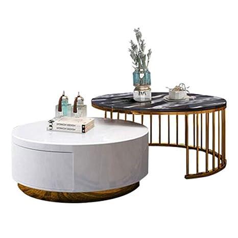 Nan-Mesita Mesa de Centro apilable de mármol, Juego de Sala ...