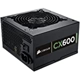 Corsair CX Series, CX600, 600 Watt (600W) Power Supply, 80+ Bronze Certified