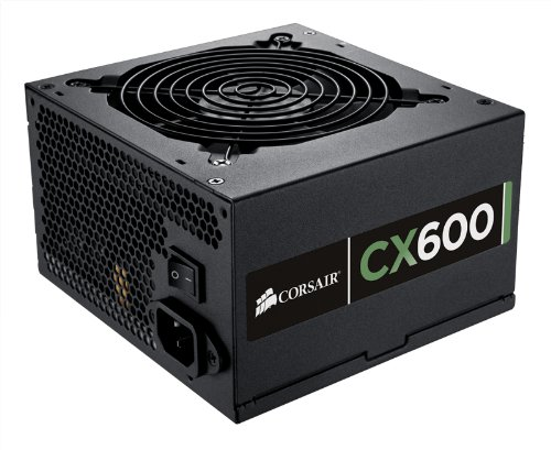 Corsair CX Series 600 Watt 80 Plus Bronze Certified Non-Modular Power Supply (CP-9020048-US)