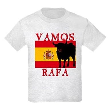 ea49a64059 Amazon.com: CafePress - Vamos Rafa Tennis Kids Light T-Shirt - Kids Cotton  T-Shirt: Clothing