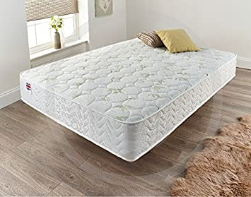 Furniture King 5ft Matress Memory Foam Quilted Sprung Mattress Single 3ft 4ft6 Double