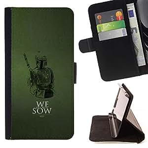 Momo Phone Case / Flip Funda de Cuero Case Cover - No sembramos;;;;;;;; - Samsung Galaxy Note 5 5th N9200